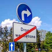 Small miasteczko ruchu drogowego w parku jordana w krakowie