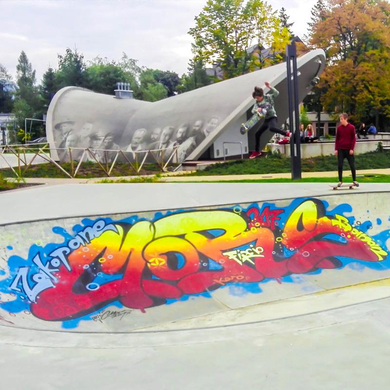 Skatepark zakopane park pilsudskiego