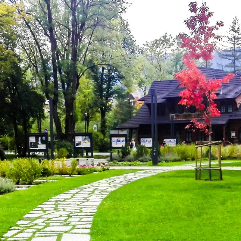 Park miejski imienia jozefa pilsudskiego zakopane