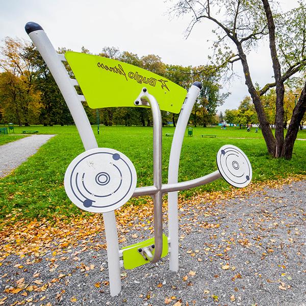 Silownia zewnetrzna w parku kosciuszki w krakowie