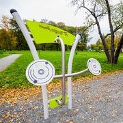 Small silownia zewnetrzna w parku kosciuszki w krakowie