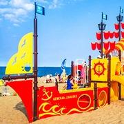 Small plac zabaw na plazy gdansk