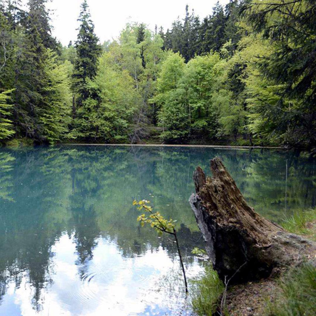 Kolorowe jeziorka w rudawach janowickich 1