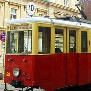 Small zabytkowy tramwaj w bydgoszczy