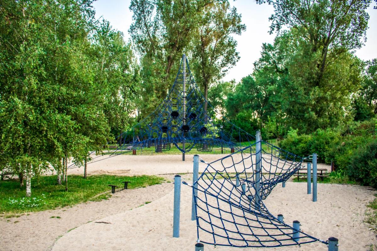 Plac zabaw dla dzieci Park Kępa Potocka Warszawa zdjęcie 11