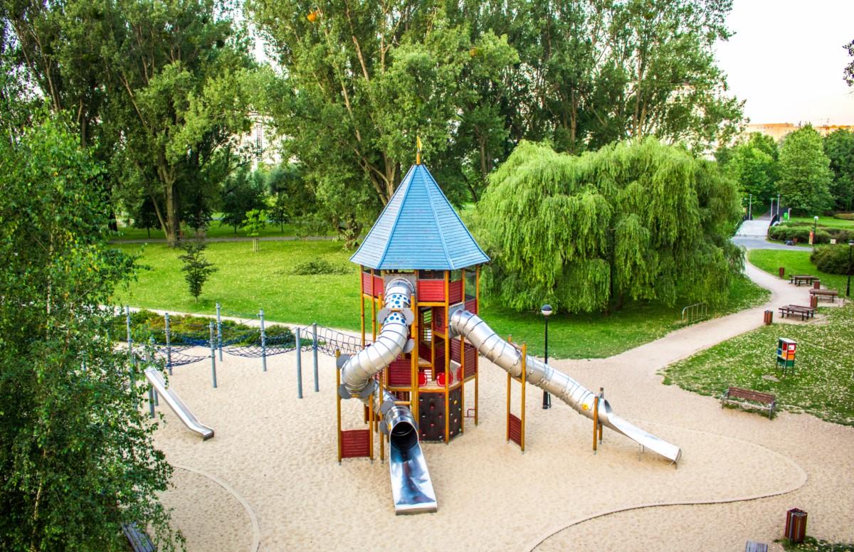 Plac zabaw dla dzieci Park Kępa Potocka Warszawa zdjęcie 7