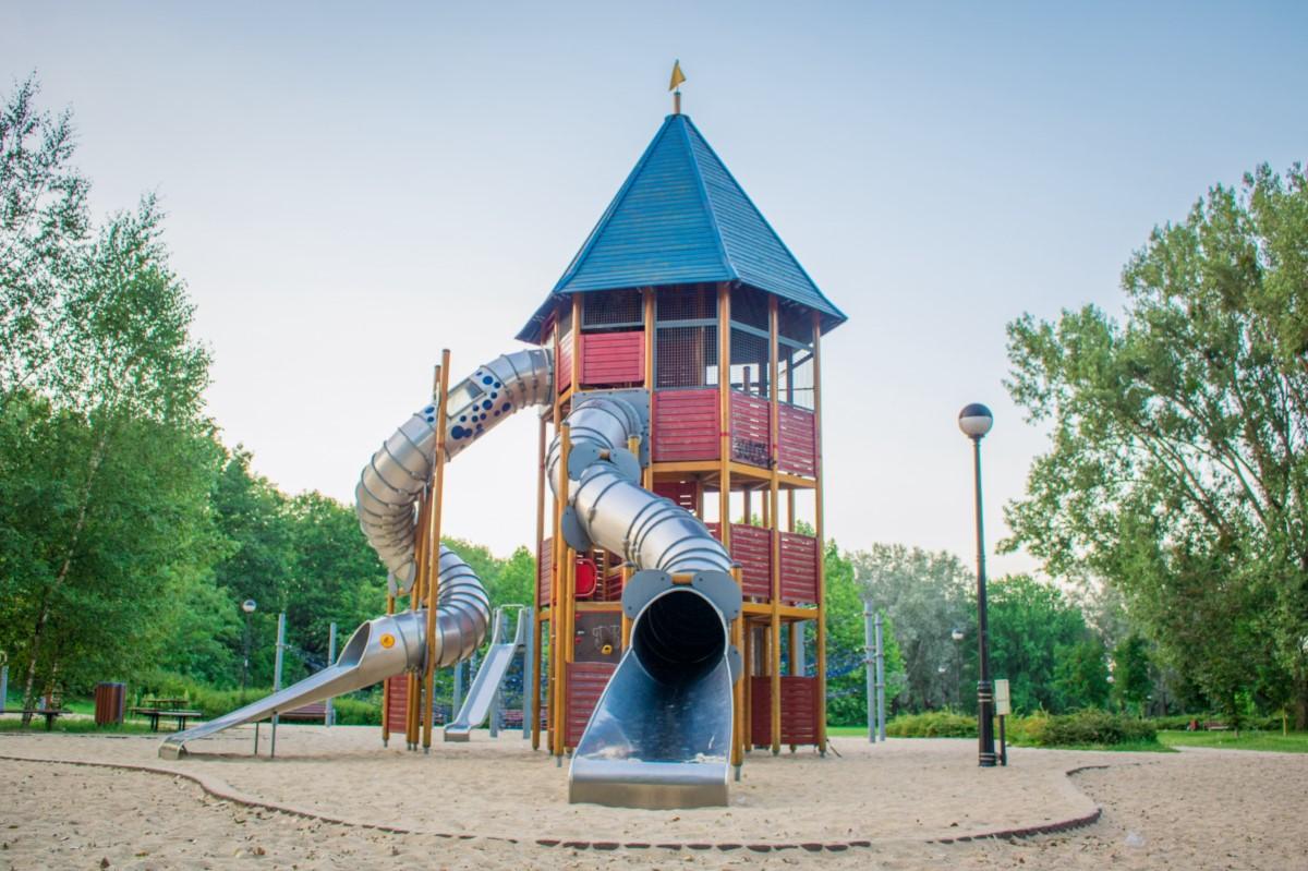 Plac zabaw dla dzieci Park Kępa Potocka Warszawa zdjęcie 3