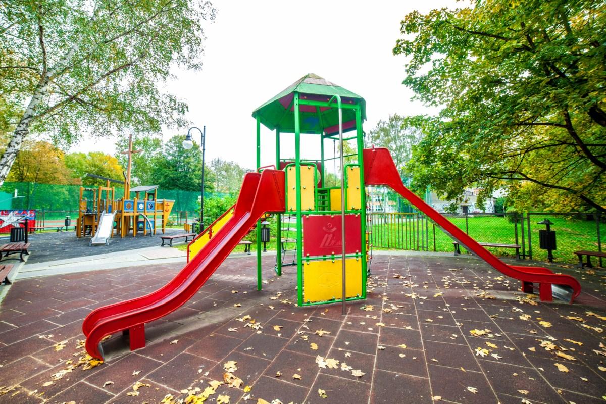 Plac zabaw Kraków Krowodrza Parku Wincentego á Paulo zdjęcie 4