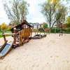 Smoczy plac zabaw w parku Zaczarowanej Dorożki w Krakowie