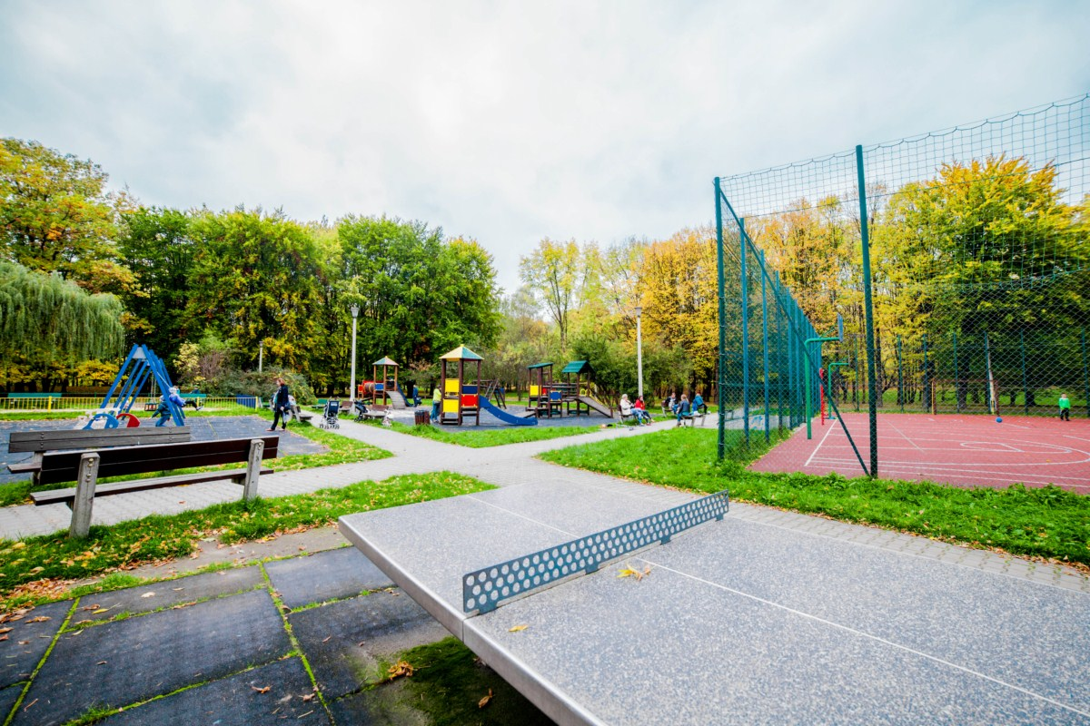 Plac zabaw dla dzieci w Parku Lotników Polskich w Krakowie zdjęcie 9
