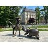 """Pomnik """"Pampalini i Hipopotam"""" Bielsko Biała"""