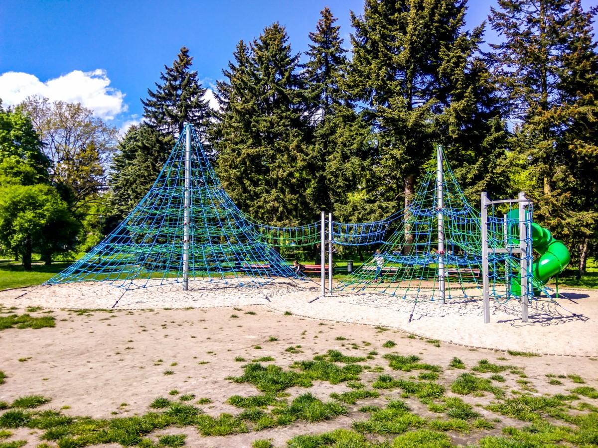 linowe instalacje do wspinaczki w parku jordana w krakowie zdjęcie 5