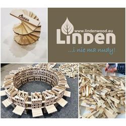 Small linden drewniane klocki