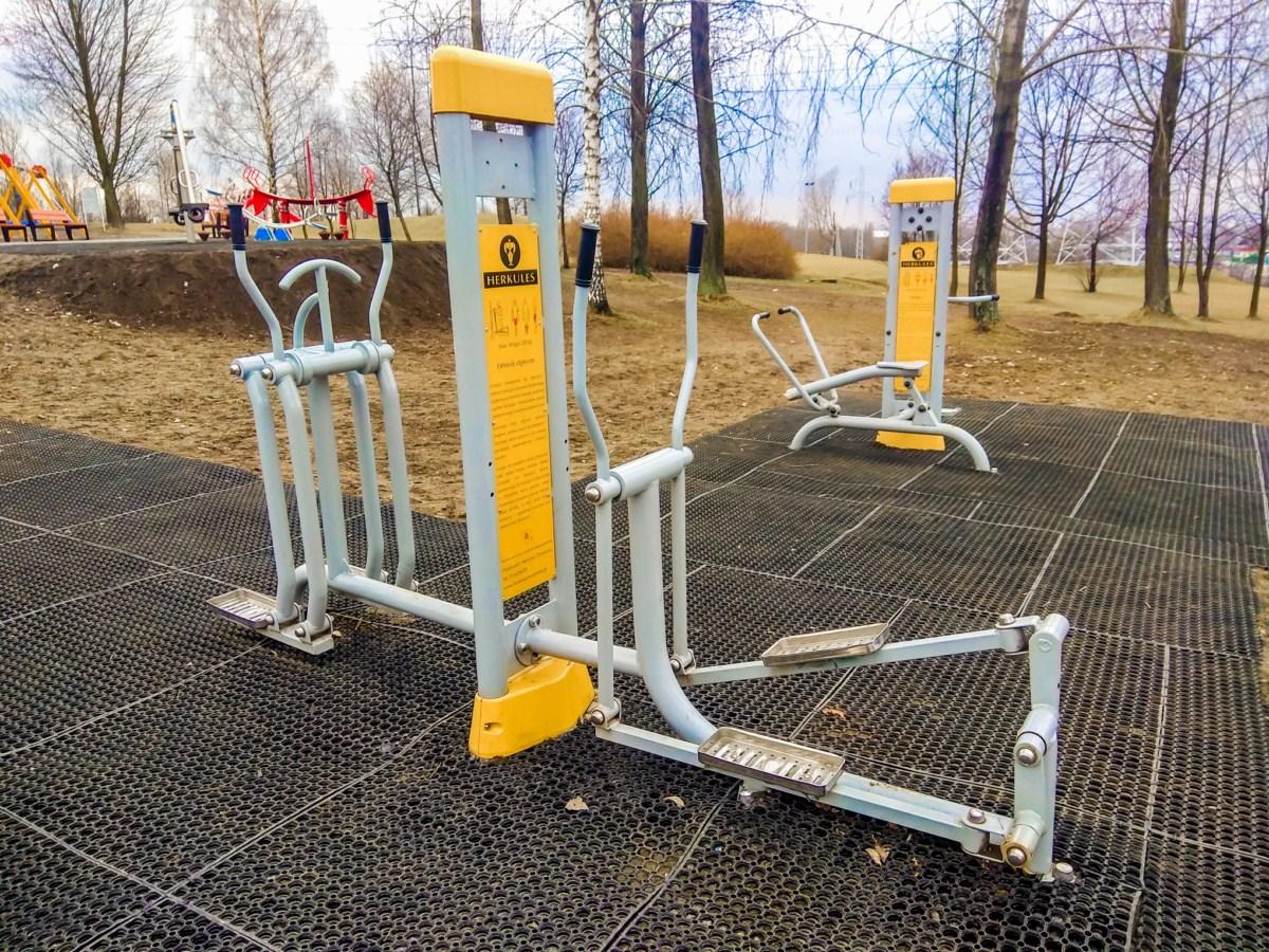 siłownia zewnętrzna sosnowiec park Środula