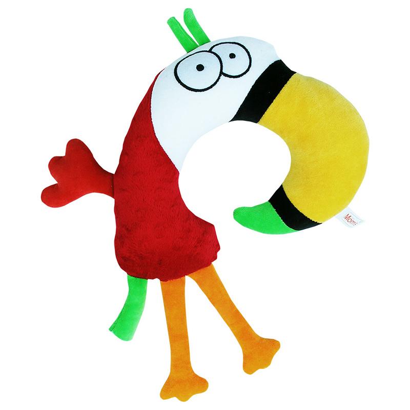 Zagłówek samochodowy dla maluszka Papuga Moms Care