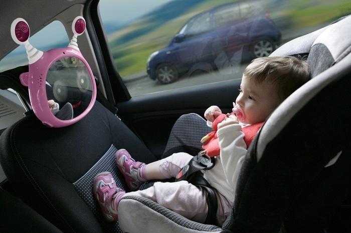 Lusterko aktywne do samochodu różowe benbat