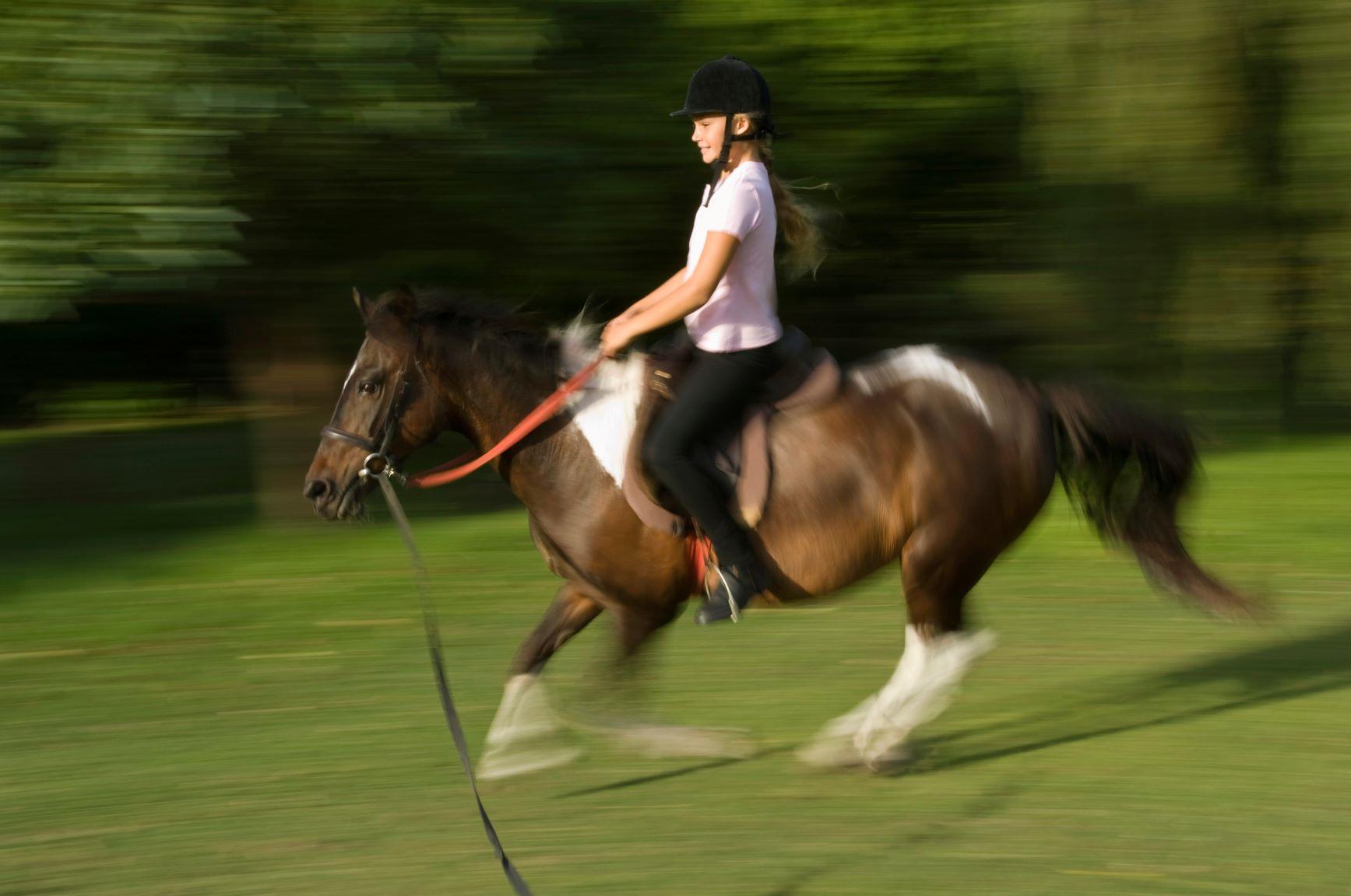 obóz jeździecki, jazda konna dla dzieci