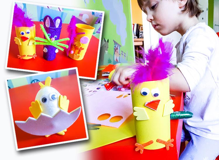 wielkanocne ozdoby z papieru dla dzieci