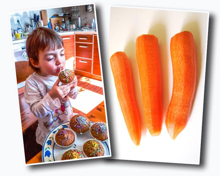 marchewkowe babeczki dla dzieci