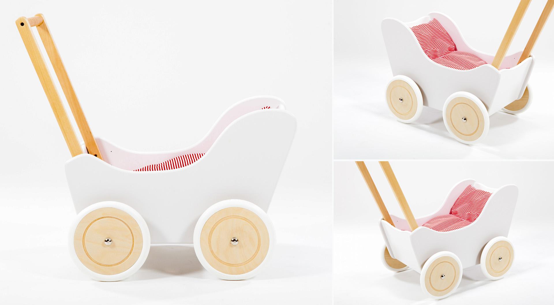 drewniany wózek pchacz dla dzieci
