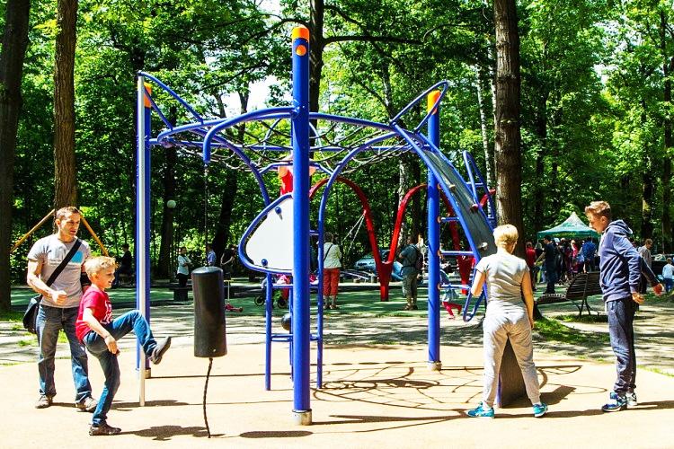 Ustroń park Kościuszki atrakcje dla dzieci