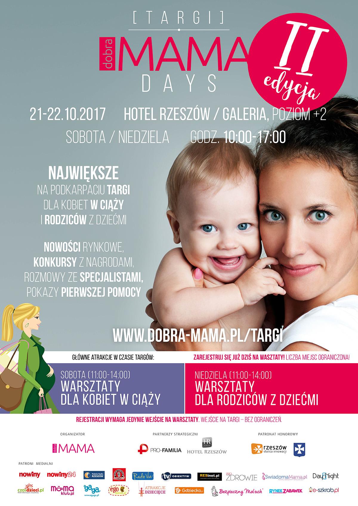 plakat targi dobra mama days II edycja Rzeszów