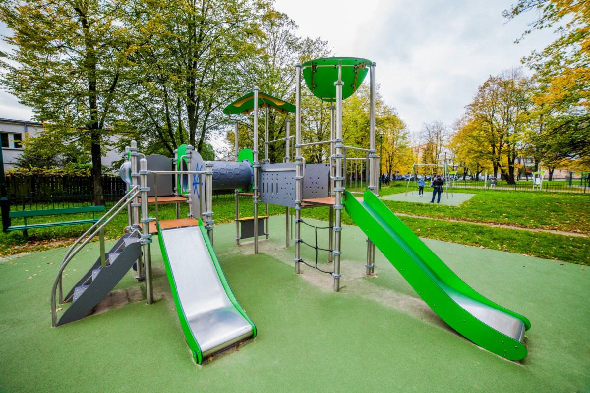 plac zabaw w parku Tadeusza Kościuszki w Krakowie