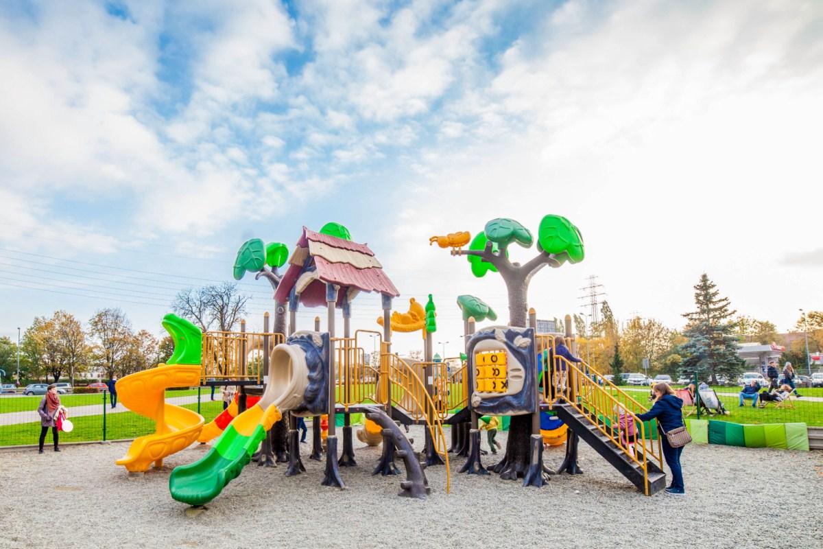 plac zabaw dla dzieci na Kazimierzu w Krakowie
